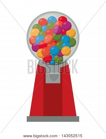 flat design Gumball Machine icon vector illustration