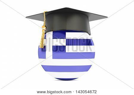 education and study in Greece concept 3D rendering isolated on white background