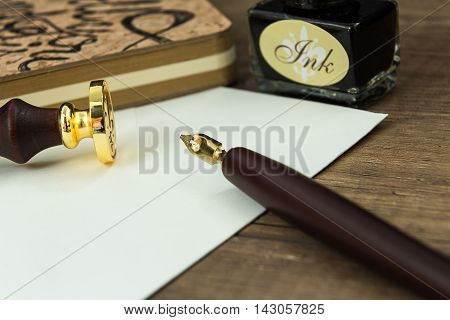 ink set used to write letters with the seal