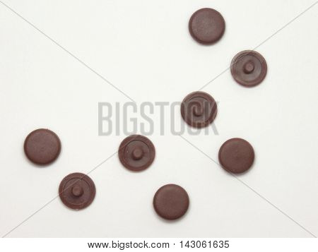 The plugs for furniture screws with countersunk heads