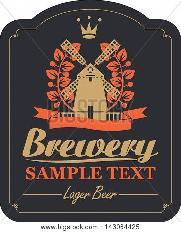 labels for the brewery or beer with a picture of a windmill