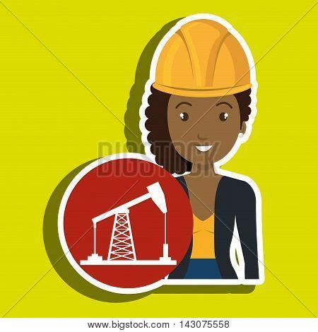 woman gallon gasoline icon vector illustration graphic poster