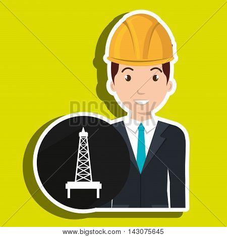 man gallon gasoline icon vector illustration graphic poster