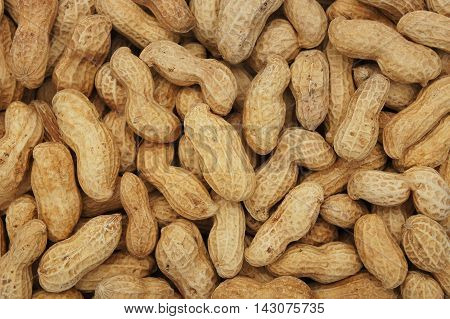 Close-up and detail of peanut seeds background