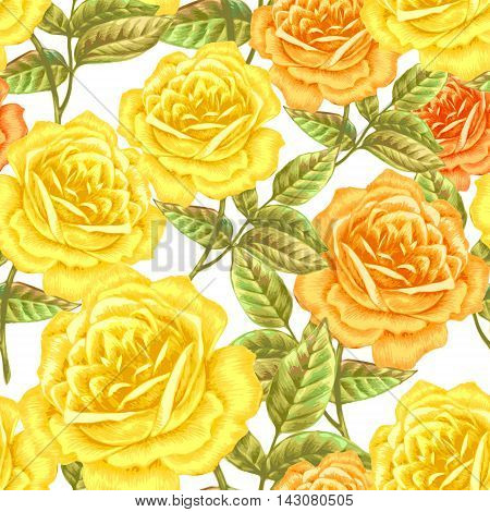 Floral seamless pattern. Flowers roses peonies. Design paper wallpaper cards invitations packaging textiles interior decoration upholstery fabrics. Vector. Victorian.