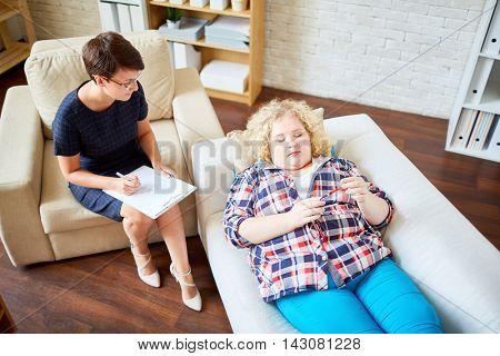 Patient and psychologist