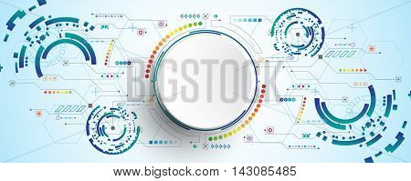 Vector abstract background shows the innovation of technology and technology concepts.