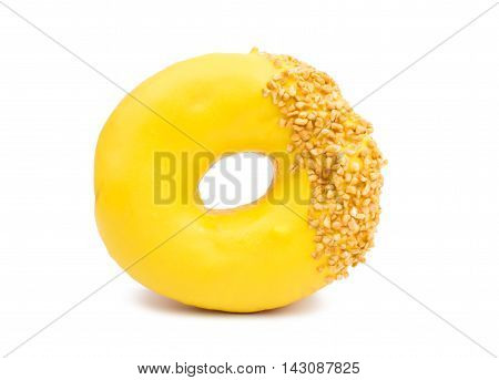 creative donut glaze on a white background