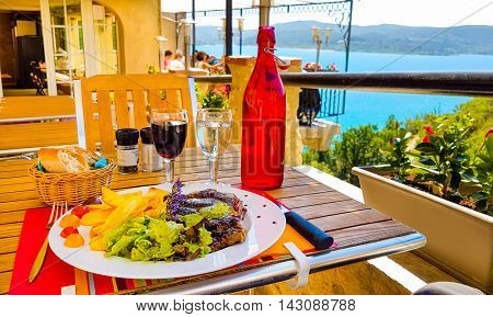 Lunch in the resort restaurant