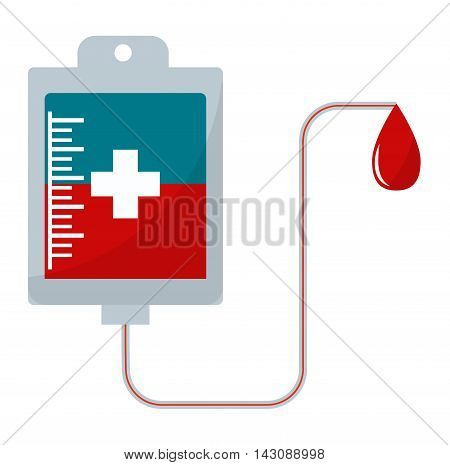 Donate blood pack medical hospital drop transfusion vector illustration. Blood pack donation medical and hospital drop blood donation. Transfusion blood pack donation clinic, help human donor.