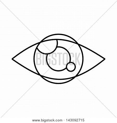 Tracking eye icon in outline style isolated on white background. Spying symbol