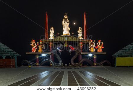 Sanggar Agung Temple or Hong San Tang is a Chinese temple in Surabaya dedicated to Chinese deities and other Asian religious icons. It is located within the Pantai Ria amusement park Temple Surabaya