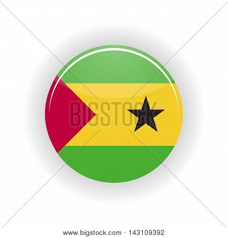 Sao Tome and Principe icon circle isolated on white background. Sao Tome icon vector illustration