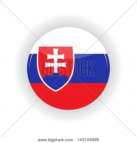 Slovakia icon circle isolated on white background. Bratislava icon vector illustration