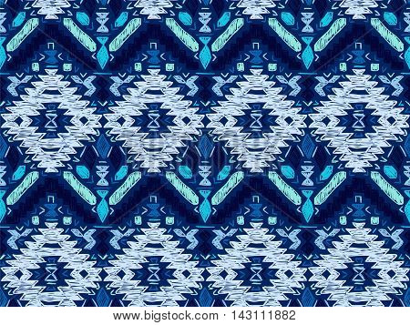 Boho tie-dye background. Native textile effect. Hippie style. Mexican sketch effect vector. Shibori batik effect texture. Trendy wallpaper or clothes fabric.