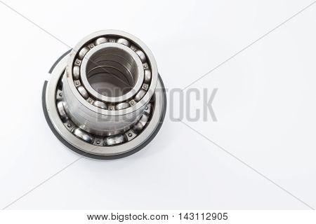 Detailed bearings set production isolated on white background
