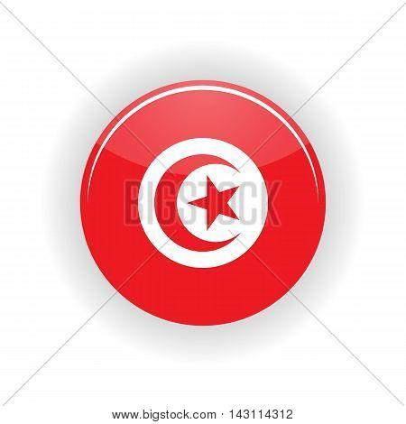 Tunisia icon circle isolated on white background. Tunisia icon vector illustration