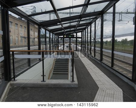 Falun Railway Station In Falun