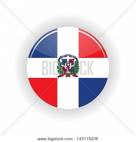 Dominican republic icon circle isolated on white background. Santo Domingo icon vector illustration