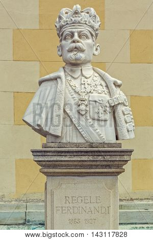 Bust Of King Ferdinand I Of Romania