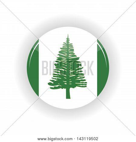 Norfolk Islands icon circle isolated on white background. Kingston icon vector illustration