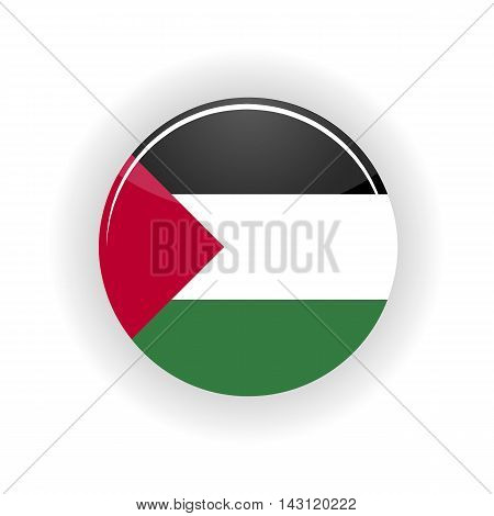 Sahara Occidental icon circle isolated on white background. Laayoune icon vector illustration