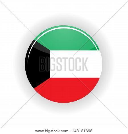 Kuwait icon circle isolated on white background. Kuwait City icon vector illustration
