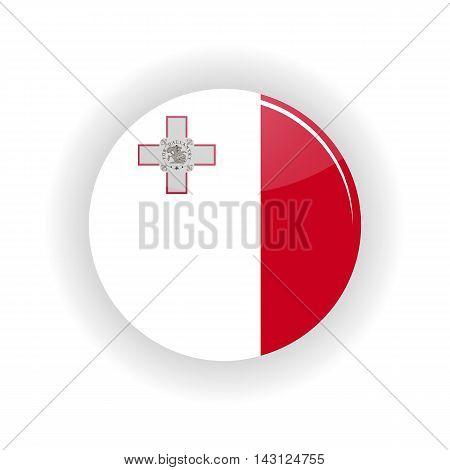 Malta icon circle isolated on white background. Valletta icon vector illustration