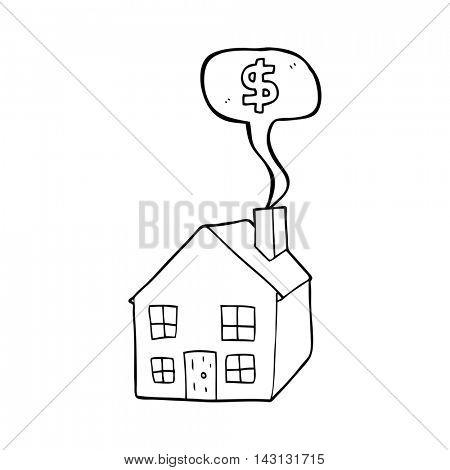 freehand drawn speech bubble cartoon housing market