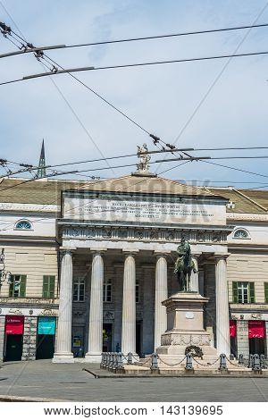Teatro Carlo Felice Theatre Of Genova. Liguria, Italy.