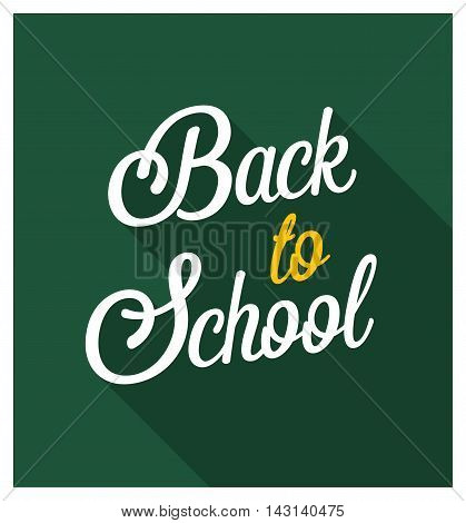 Back to school typographic design. Vector illustration.