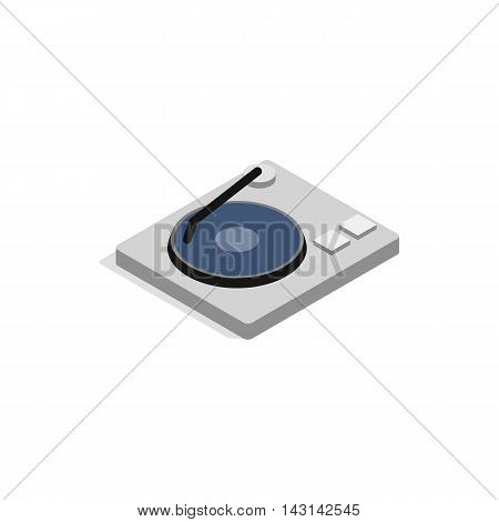 Hard disk icon in isometric 3d style on a white background