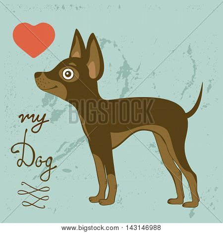Illustration of Russian toy terrier. Vector format