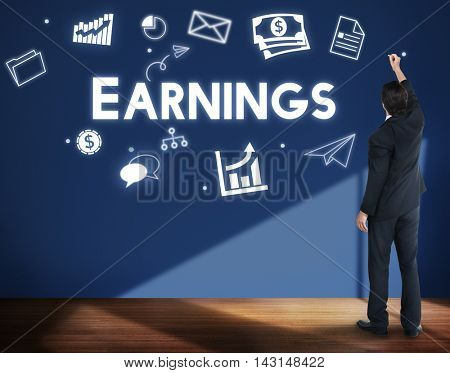 Profit Earnings Income Financial Economy Proceeds Concept poster