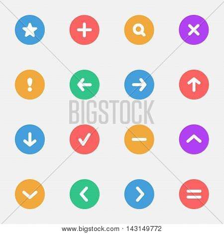 Navigation and Control Signs flat icons set