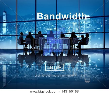 Connection Data Bandwidth Network Technology Concept poster