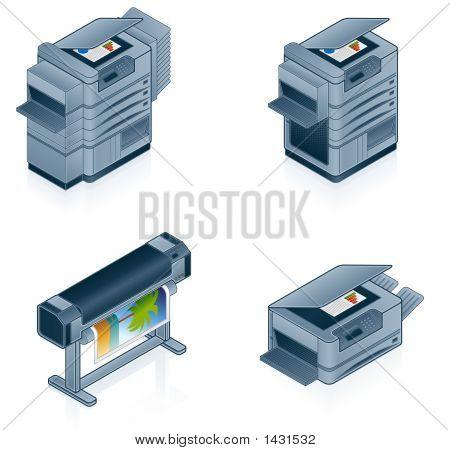 Computer Hardware Icons Set - Design Elements 55P