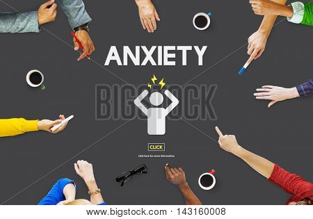 Anxiety Disorder Stress Tension Concept
