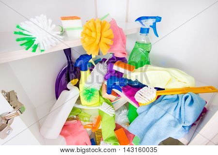 Messy Cleaning Supplies Pantry