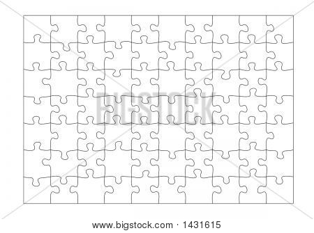 Blank Jigsaw Puzzle 70 Pieces Drawn Separately