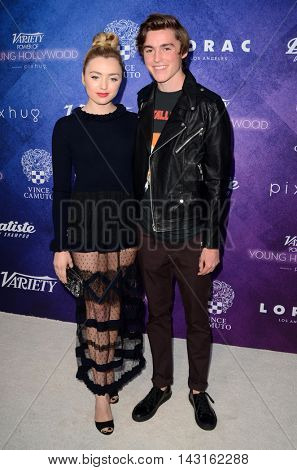 LOS ANGELES - AUG 16:  Peyton List, Spencer List at the Variety Power of Young Hollywood Event at the Neuehouse on August 16, 2016 in Los Angeles, CA