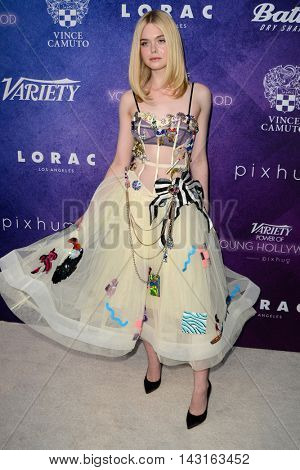 LOS ANGELES - AUG 16:  Elle Fanning at the Variety Power of Young Hollywood Event at the Neuehouse on August 16, 2016 in Los Angeles, CA