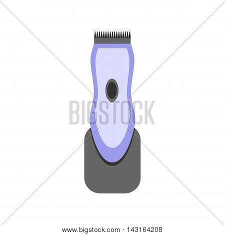 Clipper hair. Flat design. Isolated objects on white background. Vector illustration.
