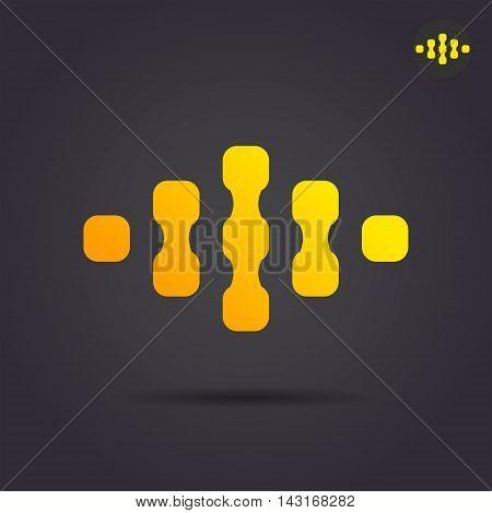 Connect sign bonds and links social media concept 2d illustration on dark background vector eps 10