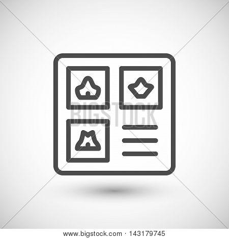 MRI image line icon isolated on grey. Vector illustration