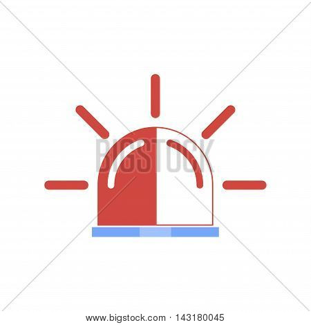 Police single icon. Concept illustration for design.