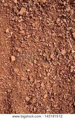 close up of small brick chippings background