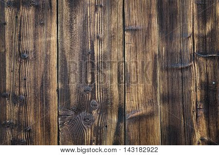 Grungy old wood panels used as backround.