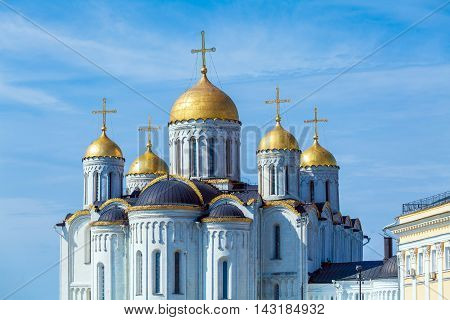 White stone Dormition Cathedral (1160) in Vladimir