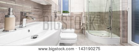 Stylish Bathroom With Classical Details